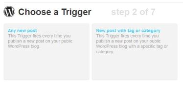 Choose Trigger in IFTTT